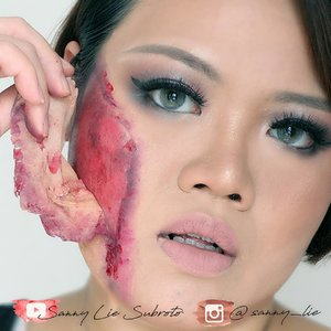 Duhhhh.. klo cuci muka pake perasaan ya ceu jangan pakai dendam biar ga copot kulitnya 😆 . . this simple and easy tutorial sudah up di channel ku, klik link yg di bio ya 😘 . . #KBBVGhostTown #KBBVMember #BringOutTheBoo #halloweenmakeup #halloweenidea #horormakeup #scarymakeup #makeuptutorials #makeupartist #BloggerCeria #indovidgram #make4glam #instabeauty #wakeupandmakeup #makeupfeed  #bbloggerid #beautyblogger #KBBVMember #indobeutygram #makeupoftheday #instabeauty  #photooftheday #picoftheday #flawlessmakeup @nyxcosmetics_indonesia #beautiesquad #Clozetteid