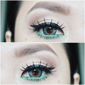 #Eyebrow @viva.cosmetics #Eyeliner @lagirlcosmetics Eyegel lime green #Eyeshadow @thebalmid Nude Dude Vol.2#Softlens Ageha @japansoftlens Lunatia in grey#Highligting @sleekmakeup Kit#Clozette #Clozetteid #beauty #makeup #eyemakeup #wingeyeliner #Waterline #limeGeen #lagirlcosmetics #Ageha #lunatia #grey #japanproduct #japansoftlens #instamakeup #instaeyemakeup  #zukreat #vegas_nay #motdindo #Bbloggers #beautybloggerid #indonesiabeautyblogger #dasistersblog #anastasiabeverlyhills