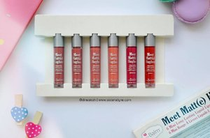 Ada review tentang theBalm Meet Matte Hughes minis di blog terbaru kami lhooo, penasaran atau pingin tahu swatch dari ke enam warna lipstick ini?? Cari tahu di www.sistersdyne.com atau click link bio yaaaa . . #clozette #clozetteid #beauty #makeup #lippie #lipcream #matte #longlast #lipstickjunkie #thebalm #meetmattehughes #commited #sincere #charming #dedicated #loyal #instamkeup #instabeauty #bloggerreview #bbloggers #blogger #dasistersblog #travelkit #minilipstick