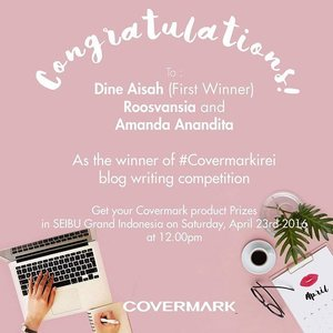 🎉 Suprise of the week, Pround to be one of the winner blog compitition @covermark_id  Thank you Covermark Indonesia  Selamat kepada cewe-cewe beauty blogger cantik 😘😘😘 foundienya jangan sampe salah pilih shade ya  #clozette #clozetteid #beauty #skincare #antiaging #supplement #collagen #agelezbihaku #indonesia #instadialy #instabeauty #bbloggers #beautybloggerid #dasistersblog #winner #compitition #bloggers