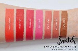 Full swatch all shades @eminacosmetics Creammatte ❤️❤️❤️ . . #Clozette #Clozetteid #Makeup #Lipcream #Matte #Emina #Swatch #Bloggerreview #Fuzzywuzzy #Jellybean #Shade #instabeauty #instamakeup #dasistersblog #flatlayoftheday #Flatlays #Bbloggers #beautyblogger #BeautyBloggerid #allshades