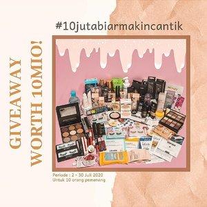 .[GIVEAWAY TIME!] 🤩🤑 Untuk mengapresiasi kalian yg udh setia support kita selama ini, kita mau bagi bagi makeup, skincare, beauty tools SENILAI 10JUTA RUPIAH untuk 10 pemenang! Ini hadiahnya mantap bgt sih banyak high end brand 😍😍Mau? Caranya gampang banget loh..(1) FOLLOW IG KITA SEMUA, WAJIB :1. @khansamanda2. @ayudamayanthi3. @mgirl834. @gadzotica5. @patriciavanessa_6.@dewaayuinda7. @rigiwereld8. @siscapiccha9. @glowliciousme10. @chelsheaflo.(2). Like postingan ini & comment ajak 5 teman kalian untuk join giveaway, gunakan hastag #10JUTAMAKINCANTIK. Makin banyak kalian ajak teman, makin banyak kesempatan menang loh! ..(3). Repost giveaway ini di sebanyak banyakanya IG Story kalian dengan hashtag #10JUTAMAKINCANTIK mention kita di story tsb yaa ( be active di instagram kita jadi nilai plus!).(4). Periode giveaway 02 - 30 JULI 2020..(5). Pemenang akan diumumkan 01 AGUSTUS 2020 di IG Story kita masing-masing! ..⚠ NO second acc / olshop acc / giveaway acc. Harus pake akun pribadi dan jangan di-private yaGood luck ❤❤#giveawayindonesia #Giveawaybulanan #giveawaymakeup#giveawayjuli2020#JakartaBeautyBlogger#ClozetteID