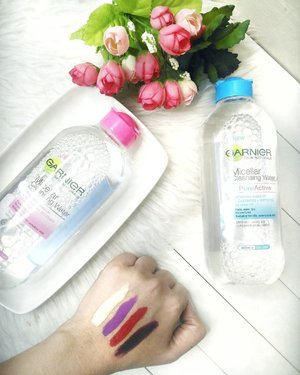 🌸🌸🌸Sneak peek next blog post on www.Glowlicious.Me . @GarnierIndonesia Micellar Cleansing Water . . . #KamuHarusCoba #Garnier #GarnierIndonesia#GarnierMicellarWater #MicellarWater #MeTimeMicellar #1LangkahBersih  #SkincareAddict #SlayTheFlatlay #SkincareRoutine #ClozetteID #JakartaBeautyBlogger #IndonesianBeautyBlogger #뷰티 #뷰티스타그램 #뷰티블로거 #블로거#팔로우