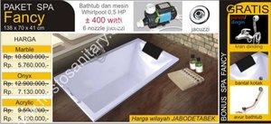 Bathtub dengan ukuran kecil, 138 x 70 x 41 cm untuk ruangan yang kamar mandi kecil.  087882292924