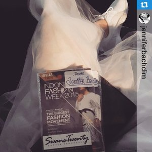 Dear jenn... I'm so happy u made it! ❤️thank you!! #Repost @jenniferbachdim with @repostapp.・・・Let the show begin !!! @swanstwenty Good luck honey @sophie_tobelly 💙 #IndonesiaFashionWeek #IndonesiaFashionWeek2015 #IFW2015 #fashionweek #FW #SwansTwenty #ClozetteID @clozetteid  #JenniferBachdim #fashion #fashionblog #fashionblogger