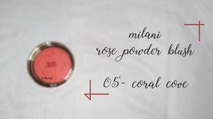 Beauty Blog by Rizkika Widianti: [REVIEW] Milani Rose Powder Blush - Coral Cove