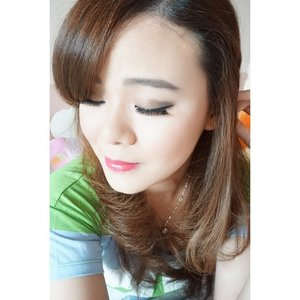 First time using full size lashes. I usually only use half lashes that does not reach the inner corner of my eyes. After I tried these lashes from @naomi_eyelash, actually it's quite comfortable.  #ClozetteId #makeupjunkie #beautyaddict #beautyblogger #makeuplover #lashes #fakelashes #motd #todaypic #todayface #jeanmilkamotd #todaymakeup
