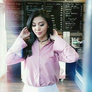 pink vibe 💓   #clozetteid #pinkshirt #beautyredemption #ootd #fashion #girl #bloggers