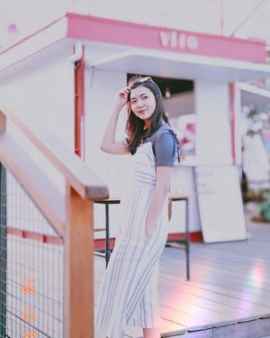 Wearing this shirt and stripes jumpsuit for a casual stroll. Hello sunshine! . . . #BeautyRedemption  #ClozetteID