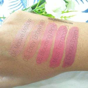 @wardahbeauty Intense Matte Lipstick ~~ full swatch of my collection! . . #wardah #wardahlipstick #wardahbeauty #makeup #makeupfreak  #wardahintensemattelipstick #lipstick #easybrownie #lipstickchick #lipstickaddict #lipstickfreak #clozetteid #blogger #bloggerindonesia #indonesianbeautyblogger #byfiarevenian #beautybloggerindonesia #blogger #beautyblogger
