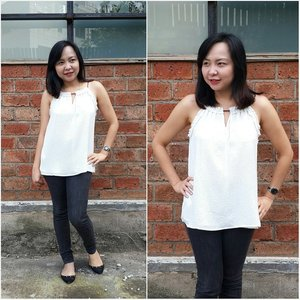 Fashion Friday - Black and White #clozetteid #fashion #fashionfriday #blackwhite #worklife #nofilter