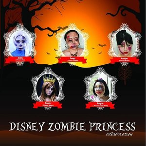 Hello! As Halloween is approaching, me and some beauty bloggers-clozette ambassador friends are coming up with this Disney Princess Zombie make up collaboration. Please head to our blogs to see the detail make up and tutorial!  #beautyblogger #beautybloggerindonesia #makeup  #collaboration #halloween #halloweenmakeup #ClozetteID #clozetteambassador #makeupcollaboration #disneyprincess #princess #snowwhite #aurira #elsa #mulan #jasmine #zombie