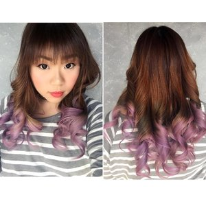 #crazyinlove with my #newhair 😍😍😍 , thank you so much @floshairbar !!! It has always been been my dream to have a pastel hair! #highlyrecommended  #pastelhair #unicornhair #colorfulhair #lilachair #iloveit #unicorntribe #ombre #ombrehair #floshairbar #surabaya #surabayahairsalon #allabouthair #dreamhair #blogger #bblogger #indonesianblogger #beautyblogger #indonesianbeautyblogger #surabayablogger #surabayabeautyblogger #clozettedaily #clozetteid #sponsored #endorse (Thank you @cynthiansunartio 😬 too)