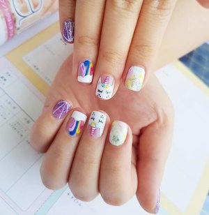 My uber kawaii Unicorn Nails for summer holiday trip,  thank you @menail.salon !  I actually found the design randomly on IG and showed them the photo then they were able to recreate the design perfectly,  so if you ever have a dream design you can snap a pic and ask them to make it for you!  #unicornlife #unicorn🦄 #unicornnails  #nails #nailart #gelnailart #gelnails #gelnaildesign #menail #blogger #bblogger #bloggerid #clozetteid #beautynesiamember #sbybeautyblogger #endorse #sponsored #endorsersby #endorsement #endorsementid #endorsementsby #influencer #beautyinfluencer #surabayainfluencer #beautyblogger #indonesianblogger #surabayablogger #nailstagram #instana