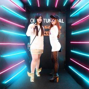Hype-bunnies special look for @bape_us Launching at @sunglassplanet ! @optiktunggal#bape #bapeeyewear#event #fashion#clozetteid #sbybeautyblogger #beautynesiamember #bloggerceria #influencer #beautyinfluencer #jalanjalan #wanderlust #blogger #bbloggerid #beautyblogger #indonesianblogger #surabayablogger  #indonesianbeautyblogger #girls #surabayainfluencer  #bloggerperempuan #bunnysisters #streetlook #ootd #ootdindonesia #ootdid #personalstyle #fashion