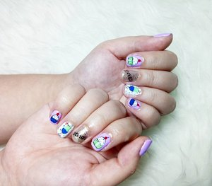 How cute are my nails 😻😻😻??? By my all time fave nail salon @menail.salon 😘😘😘 #nails #nailart #cocktails #gelnailart #colorful #nailcocktail #aphroditesxmenail #notd #allaboutnails #nailjunkie #menail #clozetteid #clozettedaily #beautynesiamember #sbybeautyblogger #bloggerceria #endorse #openendorse #sponsored #endorsement #blogger #bblogger #bbloggerid #beautyblogger #indonesianblogger #surabayablogger #endrosersby #kawaii #kawaiinails