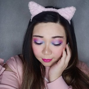 Because having a very East Asian eye shape means the only way to show off my eye makeup to its full potential is by closing them 🙈🙈🙈. Anyway, told ya i am not done with pastel colors, i'm just having too much fun and i don't plan to stop!  I also discovered that cut crease makes my eyes look even smaller so i don't think that's a makeup technique for me haha!  #quarantine #quarantinemakeup #dirumahaja #clozetteid #sbybeautyblogger #makeup #ilovemakeup #clozetteid #sbybeautyblogger #bloggerceria #pastelcoloredmakeup  #pastelcolors #kawaiiaesthetic #makeuplook #colorful #colorfulmakeup #beautynesiamember #bloggerperempuan #indonesianfemalebloggers #girl #asian  #bblogger #bbloggerid #influencer #influencersurabaya #influencerindonesia #beautyinfluencer #surabayainfluencer #jakartabeautyblogger #SURABAYABEAUTYBLOGGER