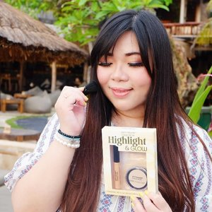 For glow-from-within, naturally glowy look lover i have an economic recommendation for you : @citycolorcosmetics Highlight & Glow Set (only IDR 100K at @kumurabeauty !) Consisting of 1 liquid highlighter, 1 matte highlight powder and 1 mini kabuki brush.The liquid highlighter is very light and natural (personally i like to use it best on bare skin on those days when i want to have a very minimal makeup but still glow. Don't use it on top of powder because your base will definitely shift around), perfect for those of you who are not into highlights that's too stark. For me it's way too natural (because i love strong highlighter!) So i prefer to use it as base and set it with powder highlighter, this makes my highlighter lasts longer and 4x more on fleek!The matte highlighter is very soft and nice but honestly i don't really use matte highlighter so i use it to set and brighten areas of my face like my undereyes. The instruction says you can use it to set the liquid highlighter but i find it muting down the already very muted highlighter - and that defeats the purpose of putting on highlighter in my opinion 😁. Overall a very nice and affordable set and recommended especially for natural  look lovers!#makeupset #cheapmakeupset #kumura #kumurabeauty#clozetteid#sbybeautyblogger#bloggerindonesia #bloggerceria #beautynesiamember #girl #asian #influencer #beautyinfluencer #recommendedonlineshop #onlineshop #surabayablogger #SurabayaBeautyBlogger #bbloggerid #beautybloggerid #beautybloggerindonesia #surabayainfluencer #influencersurabaya #bloggerperempuan #endorsement #endorsementid #endorsersby #onlineshopmurah