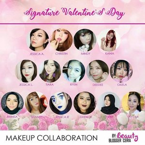 Valentine's Day Signature Look Collaboration with @bloggerceriaid (psssttt,  there are so many of us,  this is just one half of the banner!) Credit to @hincelois_jj for the pretty banner!  #BloggerCeriaMakeUpCollaboration #ValDay #MakeUp #bloggerceria #bloggerceriaid #makeup  #blogger #bblogger #bbloggerid #clozetteid #clozettedaily #girl #asian #indonesianblogger #indonesianbeautyblogger #surabaya #surabayablogger #surabayabeautyblogger #sbybeautyblogger #allaboutmakeup #influencer #makeupaddict #makeuplook #valentinesday #vday #valentinesdaylook #valentinesdaymakeup #dramaticeyemakeup #glitteryeyes