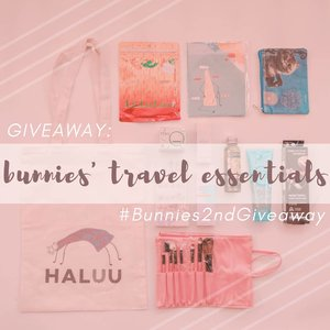 • GIVEAWAY TIME •We are back with another giveaway! Hari ini, @mgirl83 dan @deuxcarls bakal travelling ke Thailand nih 🇹🇭 Kayaknya nggak asing lagi deh kalau travelling itu merupakan hobi kita. Nah, kali ini kita mau GIVEAWAY our travelling essentials, alias perlengkapan perang kita untuk travelling cantik 💄✨ .✈️Hadiahnya:• @haluuworld Tote Bag• @haluuworld Notes• @eminacosmetics Cat Pouch• @face2face Mini Brush Set• Shobi Deco Nails• @purbasarimakeupid Metallic Lipstick• @pixycosmetic Facial Wash• @pixycosmetic Day Cream• @wardahbeauty Moisturizer• @ovalebeautyid Olive Body Oil• @watsonindo Hair Mascara• Limited Edition @lululun 7-day Mask .✈️Rules-nya gampang banget:1. Follow @deuxcarls, @mgirl83, dan @stingybunny (obviously, and don't unfollow after the giveaway or Imma block ya!)2. Repost foto ini, cerita di caption dong kenapa kalian butuh Travel Essentials dari kita ini! Jangan lupa pakai hestek #Bunnies2ndGiveaway dan tag 3 akun diatas.3. Komen 🇹🇭 di post ini kalo sudah selesai semua step diatas yaa!!.✈️** Post yang dihitung adalah post di AKUN PERSONAL (not online shop/giveaway account/etc) dan JANGAN DIPRIVATE!! Giveaway ini berlangsung sampai 18 Juli 2019, 00:00 WIB. Pengumuman pemenang bakal melalui IG Story kita tanggal 20 Juli 2019 ✨🎉.✈️#giveaway #giveawayindonesia #giveawayid #bagibagihadiah #hadiahgratis #makeupgratis #giveaways #clozetteid  #infogiveaway #sbybeautyblogger #bloggerceria #beautynesiamember #blogger  #beautybloggerindonesia #beautybloggerid #travelessential #produkgratis #gratisan