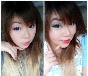 #onebrandtutorial #dayandnightlook with @f2f.cosmetics Details at http://bit.ly/1brandf2f  #pinkandundecidedblog  #fotd #motd #pinkypurple #simplemakeup #onebrandlook #onebrandmakeup #f2fcosmetics #face2facecosmetics #girl #asian #clozetteid #clozettedaily #blogger #bblogger #beautyblogger #bbloggerid #indonesianblogger #indonesianbeautyblogger #surabaya #surabayablogger #surabayabeautyblogger #sbybeautyblogger #onebrandlook #simpletutorial #makeuptutorial #basicmakeuptutorial