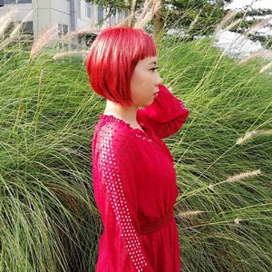 Red, Purple, Blonde, what's next?🤔..#radenayublog #haircolor #redhair #purplehair #blondehair #shorthair #ClozetteID #hairstyle