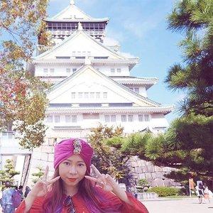 Now writing a  blog post about Osaka, so stay tuned guys ❤  #osaka #osakacastle #japan #clozetteid