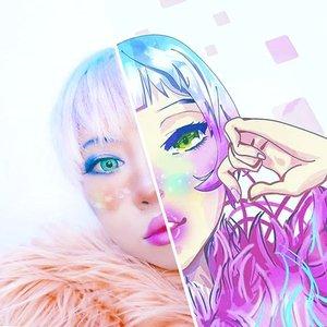 Illustration by @firdsyafr Makeup by MI . .  #toonme #animegirl #makeupideas #Clozetteid #radenayublog #beautyblogger