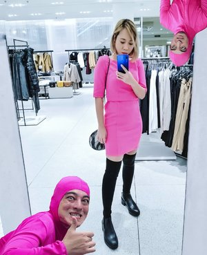 Pink guy idolaqu 👾@sushitrash . . #ootd #lookbookid #ootdid #lookbook #zara #pinkguy #joji #sushitrash #filthyfrank #radenayublog #fashionblogger #dress #boots #clozetteid