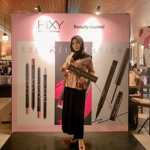 At PIXY ColoReinvention Launch Event.Their new products are Line Shadow, Lip Cream, Slim Line Matte Eyeliner and Intense To Last Pen Eyeliner. Can't wait to try! Full review, soon on my blog 💙@pixycosmetics @beautyjournal#PIXYColoReinvention #PIXYxBeautyJournal