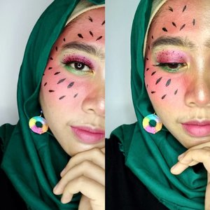 Hai melon air!!!! . .#Clozetteid#FruityFace #freshmakeup