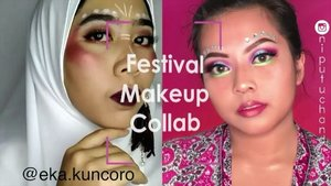 Wooooozaaaaah! Another collab dengan salah satu beauty blogger favorite, @niputuchandra 💃💃💃💃💃.. Ini pertama kalinya aku collab video, yang harus disatuin, ngedit dan ngepasin gerakan. Beneran dari NOL, dan diajarin sama Tutu, yah walaupun masih gak pas ya Tu 😂😂😂😂.Makasih banget untuk Tutu udah mau menerima dan membantuku, aku merasa diemong 🤣🤣. ..Product yang tampil:- Viva single Eyeshadow- L A Girl HD Foundation- Milani 2in1 Foundation+Conceal- Latulipe Contour Kit- Viva Queen Loose Powder- Pixy Lipcream abis gitu teleportasi ke Brisbane- Poppy Dharsono Lipcream.Cek videonya Tutu juga untuk produk emejing yang dia pake, aku tertarik sama highlighternya btw. .@beautiesquad #beautiesquad @indomakeup_squad #indomakeupsquad @setterspace #setterspace @beautybloggerindonesia #beautybloggerindonesia @teambeautyvlogid #teambvid @bunnyneedsmakeup #bunnyneedsmakeup @bvlogger.id #bvloggerid #clozetteid @indobeautysquad #indobeautysquad @indobeautygram #indobeautygram @indobeautygram #beautygramindonesia #wakeupformakeup #makeuptutorial @bloggerceriaid #bloggerceriaid @beautilosophy #beautilosophy  #100daysmakeupchallenge  @beautygoers #beautygoersid  @beautyguruindonesia #beautyguruindonesia @beautychannel.id #beautychannelid @tampilcantik #tampilcantik