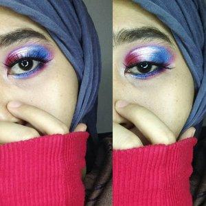 [Produk]…° @inezcosmetics Profesional Eyeshadow Palette ° ° @ltpro_official Eyebrow Cream ° …Hallo eye yang tidak hallo sama sekali. .#halloeyes #eotd #eyemakeup #colorfuleyemakeup #clozetteid #hijabandmakeup