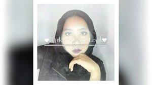 Black is not Bad! ⠀⠀⠀Hai Sisters!!! ⠀Happy Monday!⠀Yang mungkin butuh makeup buat wisuda tapi gak mau yang netcurel, boleh juga dicontoh. 😂⠀⠀[Produk] ⠀⠀🍦@Ltpro_official Eyebrow Cream🍦Viva Cosmetics Cover Up (Concealer) ⠀🍦@Shuuemura Petal Skin Foundation ⠀🍦@latulipecosmetiques_ Contouring Kit⠀🍦Viva Cosmetics Loose Powder⠀🍦@inezcosmetics Eyeshadow Palette⠀🍦City Color Cosmetics Eyeshadow Palette⠀🍦@mizzucosmetics Black Eyeliner ⠀🍦@Maybelline Mascara⠀🍦@silkygirl_id Lip Liner⠀🍦@nyxcosmetics_indonesia  Soft Matte Lipcream⠀⠀#clozetteid #blackmakeup #motd #blackeyeshadow #boldlips #darkmakeup #blackhijab #hijabandmakeup #beautyindonesian #ragamkecantikan #tampilcantik #makeupvideo #tutorialmakeup ⠀⠀⠀#beautiesquad #beautyranger #kbbvmember #indovidgram #makeupparty #makeupwisuda ⠀