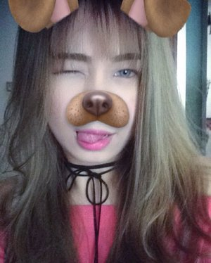 One of my favorite filters on snapchat! � #dogfilter #snapchat #motd #wink #asian #clozette #clozetteid #starclozette