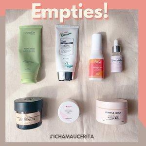 𝑼𝒏𝒃𝒐𝒙𝒊𝒏𝒈..𝑾𝒆𝒂𝒓 𝑻𝒆𝒔𝒕 𝒆𝒉𝒉 𝒔𝒖𝒌𝒂 𝒍𝒖𝒑𝒂 𝑬𝑴𝑷𝑻𝑰𝑬𝑺 😝 So here it is #EmptiesCha empties produknya #IchaMauCerita. Beberapa ada yang sudah di repurchase. Swipe swipe for the review😍😍  Anyway 5 dari 7 empties produk ini termasuk Clean Beauty🍃🍃. Untuk keseluruhan 7 produk ini semuanya No Animal Testing✅  Untuk gambaran kalian tentang #Ichamaucerita 👩🏻 🍃 Tipe Kulit: Kombinasi cenderung Berminyak. 🍃Kondisi Kulit: Sensitif  🍃 Skincare Preference aman untuk kulit dan ramah untuk lingkungan✅  Nah kalau udah abis gini SkinCarenya dibersihin dan disimpen biar bisa di pick Up sama pengelola sampah😍 See you in the next edition of #EmptiesCha 😘😘😘  #EmptiesCha #IchaMauCerita #skincare #sensitiveskin #beautyreviews #skincareroutine #clozetteid #emptiesskincare