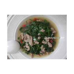 Kangkung Cah Sapi... Easy simple and yummy! #kangkungcah . Where to buy? No no no. Homemade!! . #alca_food #foodie #goodfoodgoodlife #foodblogger #homemade #culinary #kuliner #clozetteID . Points : all by myself 😂