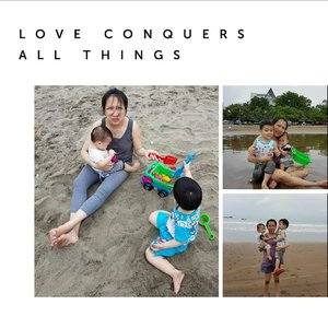 when i found that love is you 😍😘 just making memories 😘.#clozetteID #momanddaughter #momandson #RyuOzoraHalim #GwenOzoraHalim#happykids #beach #happytime
