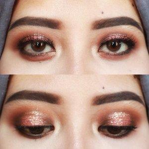 Lagi pengen dandan. Tapi nggak pengen makeup full. Jadilah cuma mata aja. 😅 _ @anastasiabeverlyhills dipbrow pomade shade ebony.  @thebalm_cosmetics Nude Beach palette.  Rire pigments shade pink. #clozetteid #makeup #starclozetter #thebalm #abhdipbrowpomade #anastasiabrows #rirepigments