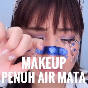 Makeup penuh air mata 🙃😢💞Inspo : @katieelizabethbutt.Deets :• COMPLEXION@easypeasy_cosmetics Aqua Stick@revlonid Colorstay Full Cover Foundation@easypeasy_cosmetics Coloring Stick - 04• EYES@ucanbemakeup Fruit Filling Palette@maybelline Define & Blend Brow Pencil@maybelline Hyper Tight Liner@artisanpro Lashes• LIPS@maybelline Superstay Ink Crayon - 15• DECORATIVE@mehronmakeup Paradise Makeup AQ Palette#beautybyvilly.#makeuptutorial #tutorialmakeup #sfxmakeuptutorial #makeupvideo #amazingmakeupart #illusionmakeup #sfxmakeup #sfxmuaindonesia #sfxindonesia #sfxmakeupindo #facepaintingindonesia #artmakeup #crazymakeups #undiscovered_muas #indobeautysquad #beautybloggerindonesia #indobeautygram #jakartabeautyblogger #100daysofmakeupchallenge #clozetteid #cchannelbeautyid #tampilcantik #ragamkecantikan #colourpopme #charisceleb