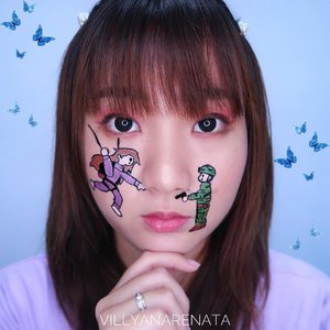 CRASH LANDING ON YOU MAKEUP.Saw a fan-art at Google then I decided to redraw it on my face 🙈💞Hayo siapa yang masih belom move on dari captain Ri ??Akusih udah jd bucin sejak dahulu kala sama kang Hyun Bin 😂#beautybyvilly.#crashlandingonyou #crashlandingonyouedit #사랑의불시착 #amazingmakeupart #sfxmakeup #sfxmuaindonesia #sfxindonesia #sfxmakeupindo #facepaintingindonesia #artmakeup #crazymakeups #undiscovered_muas #indobeautysquad #beautybloggerindonesia #indobeautygram #jakartabeautyblogger #100daysofmakeupchallenge #clozetteid #cchannelbeautyid #tampilcantik #ragamkecantikan  #mehrongirl