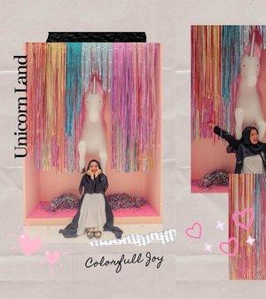 My colorfull unicorn land❤️💛💚💜💙🦄💒🌈...#nrlfjrbrrhOOTD #HijabOOTD #hijabootdindo #modelhijaber #mudaberhijab #dailyhijabootd #clozetteid #style #fashion #hijabfashion #khfijkt #unicornland #mallofindonesia #cuteplace