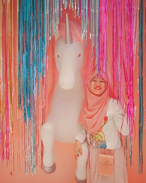 Let's dance with fairies 🧚‍♀, ride a #unicorn 🦄 , swim with mermaids 🧜‍♀, chase rainbow 🌈. Living a happy life . Location: @mallofindonesia #MOIUnicornLand . . . . .  #jilbabday #hijabtravellers #hijabday #hijabtravelling #hijabdaily #hijabtraveller  #traveling #holiday #vacation #redtraveler #clozetteid #dolansebentar #CreateMoments #PesonaIndonesia #yourtravelvoice #AladinGetaway #travellerscantik #keluarbentar #INDOFLASHLIGHT #infiatravel #TripZillaTraveller