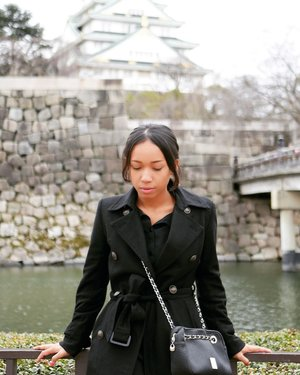 Osaka Castle checked. ✔  I'm not a big fun of temple but just wanted to do mandatory picture in front of Osaka Castle. 😅😅 . . . . . .  #sakuralisha #independentwoman #osaka #osakacastle #japan #japantrip #travel #travellife #travelling #traveller #clozetteid #indonesianbeautyblogger #vacation #holiday #jalanjalan  #likesforlikes #likes #like4like #likeforlike #likeforfollow #likeforlikes #likes4likes #likesforfollow #follow4like #followforfollow #followforlike #follow4follow #followme #followforfollowback