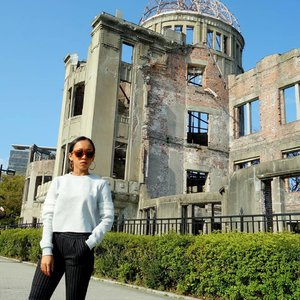 I don't really know about the history of this world, but I was really curious with Hiroshima, known as the first city on history to be targeted by nuclear weapon when the USAAF dropped an atomic bomb on the city on August 6, 1945, near the end of World War II. During my trip in Japan last week, I decided to visit Hiroshima Peace Memorial. The ruin of the hall serves as a memorial to the people who were killed in the Atomic Bombing of Hiroshima. Youk know that I'm not a big fan of history, but I'm greatful had opportunity to visit this beautiful city. ....#sakuralisha #independentwoman #hiroshima #japan #hiroshimapeacememorial #solotrip #japantrip #indonesianbeautyblogger #clozetteid #beautybloggers #travellife #travel #traveller #travelling