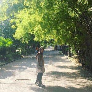 . 🌲🎋🍃🌲🚶♀️ . . #exploresolo #tamansriwedari #citywalksolo #myhijup #clozetteid #selow #shortgetaway #surakartasolo