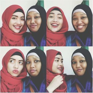Piece of soul. Miss you, sist! . . . . . . . . .  #wefie #bloggerlife #blogger  #ootd #hijab #bandung #igers #hotd #indonesia #likeforlike #like4like #sister #friends #friendship #photooftheday #photography #picoftheday #vsco #vscocam #girl #tbt #photogrid #throwbackthursday #vscogood #throwback #happiness #clozetteid #miss