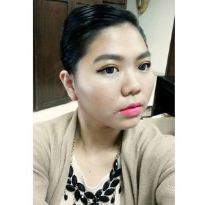 Its been ages since I do full makeup for work and take selfie in the office but already holiday spirit! 🌸🌸🌸 so not much task,  holiday seasons are coming,  I really want have a nice much rest. !! 🌸🌸 lips are #lasplash sahde lollipop #motd #lipstickoftheday #lotd #clozetteid #makeup