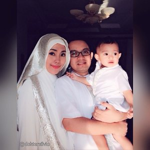 Lebaran seragaman Sama @rafa_khalifamardan baju mama, baba dan Rafa 💖🎉 #ClozetteID #fashion #ootd #photooftheday #hotd #baby #mybaby #mybabyboy #TagsForLikes #idulfitri1436H #lebaran #white