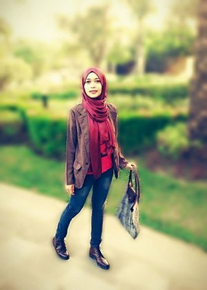 Casual always suit on me.. #GoDiscover #hotd #ootd #cotw #hijab #cirebonjepret